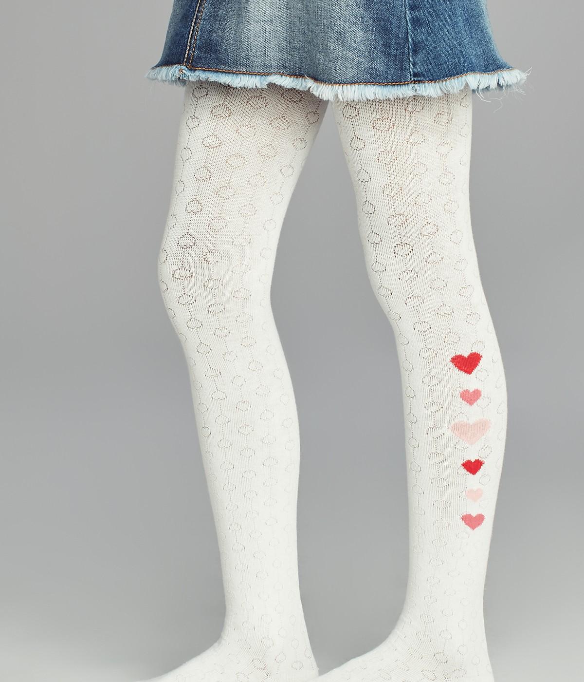 Pretty Heart Line Tights