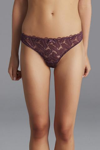 Lotus Lace Brazilian Panties