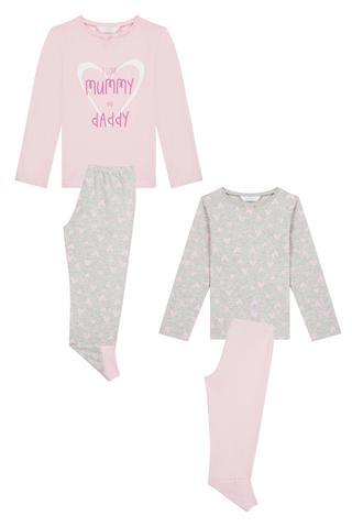 Set Pijama Fetițe Mum&Dad 4 Buc.