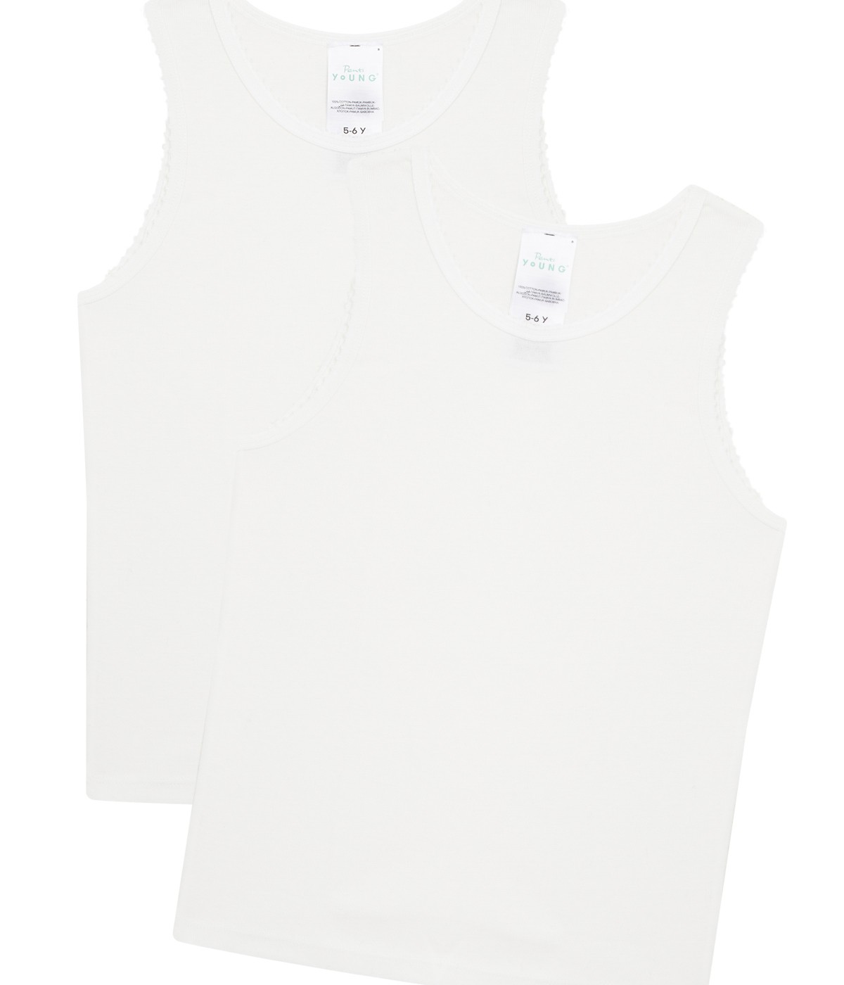 Girls Organic Cotton 2 In 1 Tank