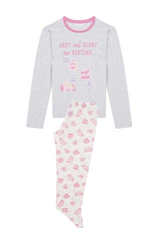 Set Pijama Teen Lazy Animal 2 Buc.