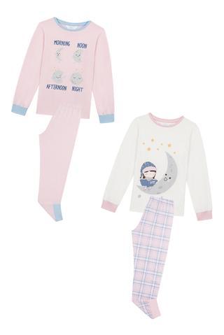 Set Pijama Fetițe Moon 4 Buc.