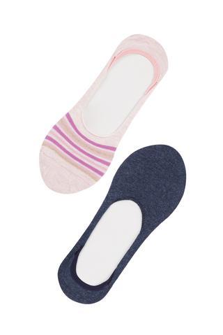 Stylish 2 in 1 No Show Socks