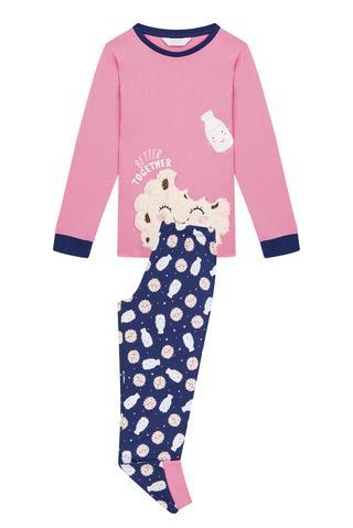 Set Pijama Fetițe Biscuit  2 Buc.