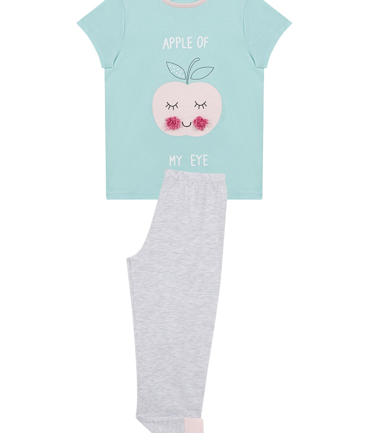 Girls Apple 4 In 1 Pj Set