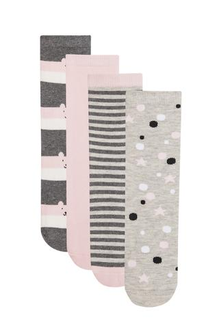 Girls Rabbit 4 in 1 Socks