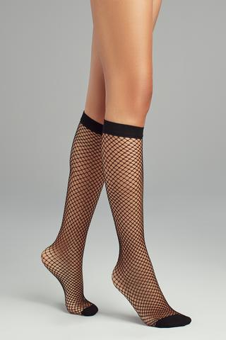 Classic Fishnet Knee High Socks
