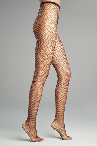Ciorapi chilot din plasa cu grosime medie