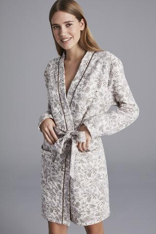 LEAF QUILTED ROBE