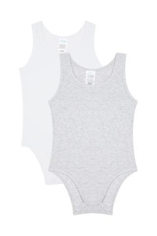 Set Bodysuit Fetițe Basic 2 Buc.
