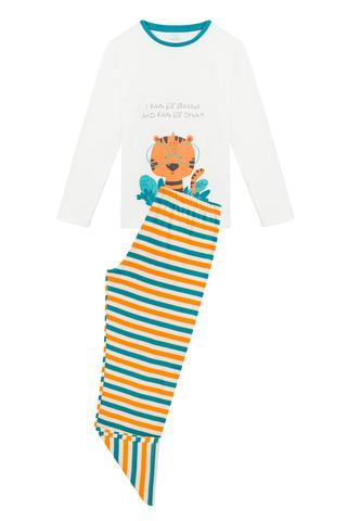 Set Pijama Baie?i Tiger Termal 2 Buc.