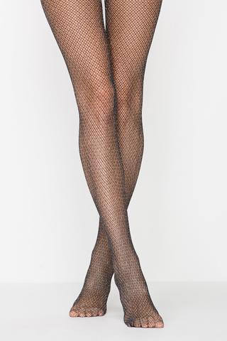 Ciorapi chilot cu plasă Shiny