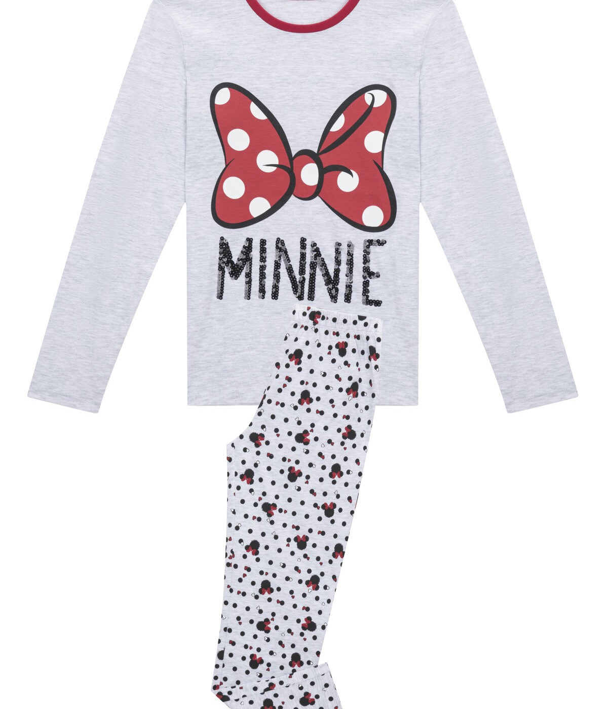 Teen Disney Minnie Bow 2 In 1 PJ Set