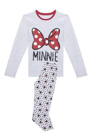 Set Pj Teen Cu Desen Minnie Bow 2 Buc.