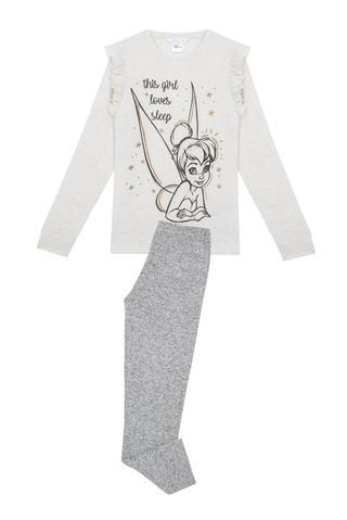 Pijama Teen Cu Desen Tinkerbell 2 Buc.
