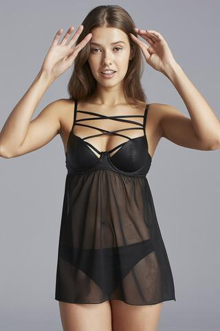Delicious Leather Babydoll