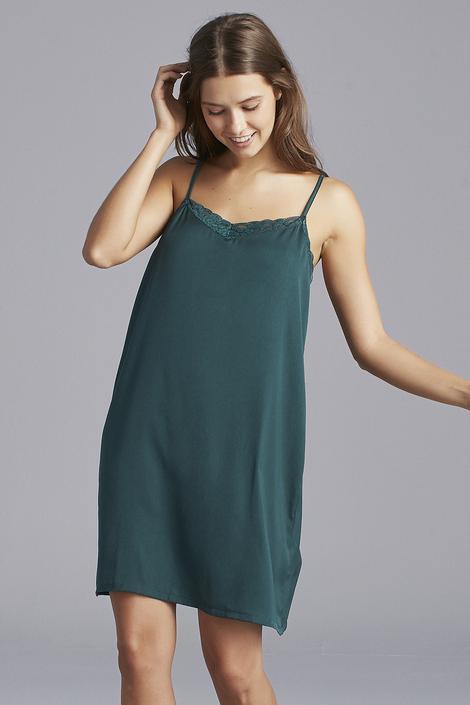 Deep Green Satin Dress