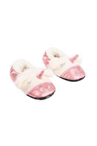 Girls Fuzzy Unicorn Booties