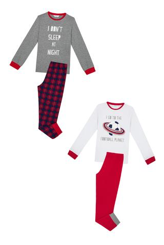 Set Pijama Băieți Football Planet 4 Buc.