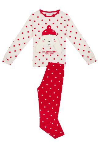 Set Pijama Fetițe Bunny Polar 2 Buc.