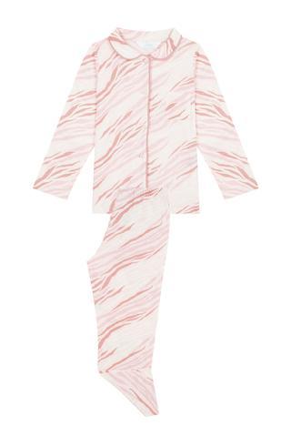 Girls Zebra Pijama Set