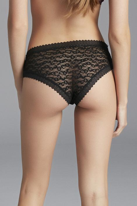 Leopard Mesh Hipster Panties