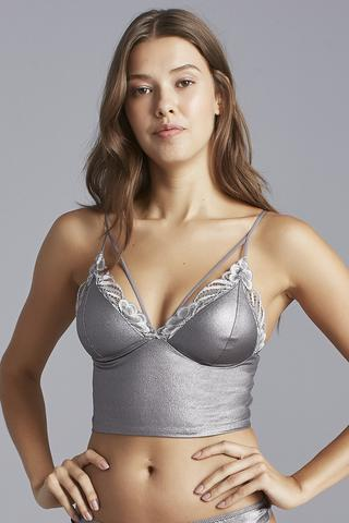 LUNA LEATHER BRALETTE