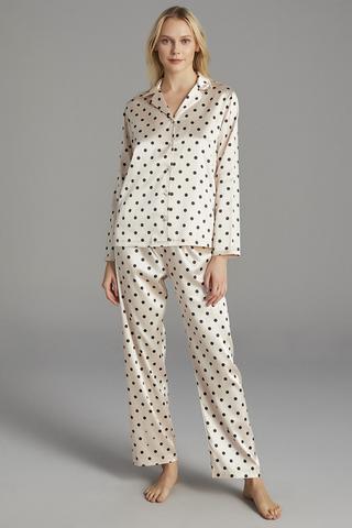 Set Pijama Ivory Satin