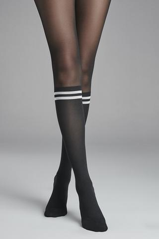 WHITE STRIPE TIGHTS