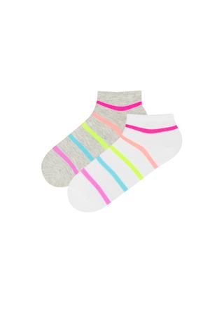 BASIC STRIPED 2In1 Liner Socks