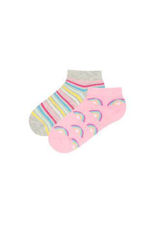 Rainbows 2 In 1 Liner Socks