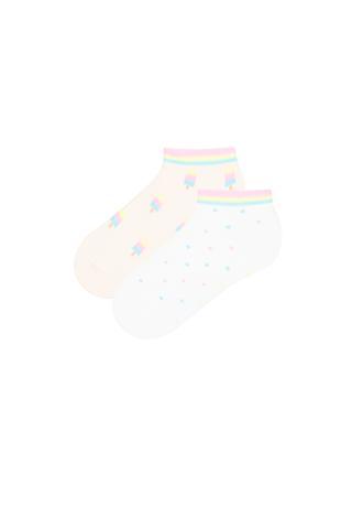 Ice Cream 2 In 1 Liner Socks