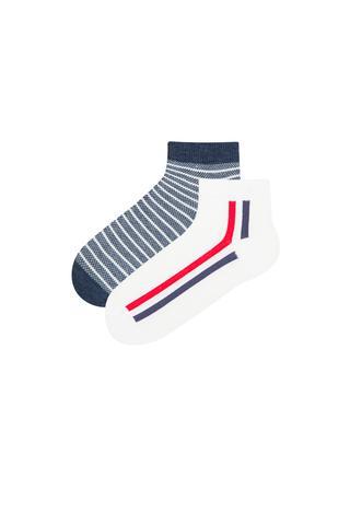 Stripes 2 In 1 Liner Socks