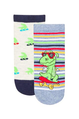 B.LITTLE DINO 2IN1 LINER SOCKS