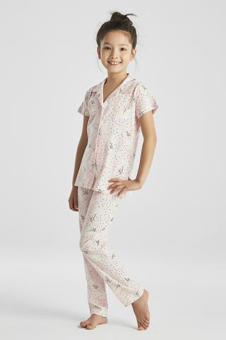 GIRLS ENT FLOWERS PJ SET
