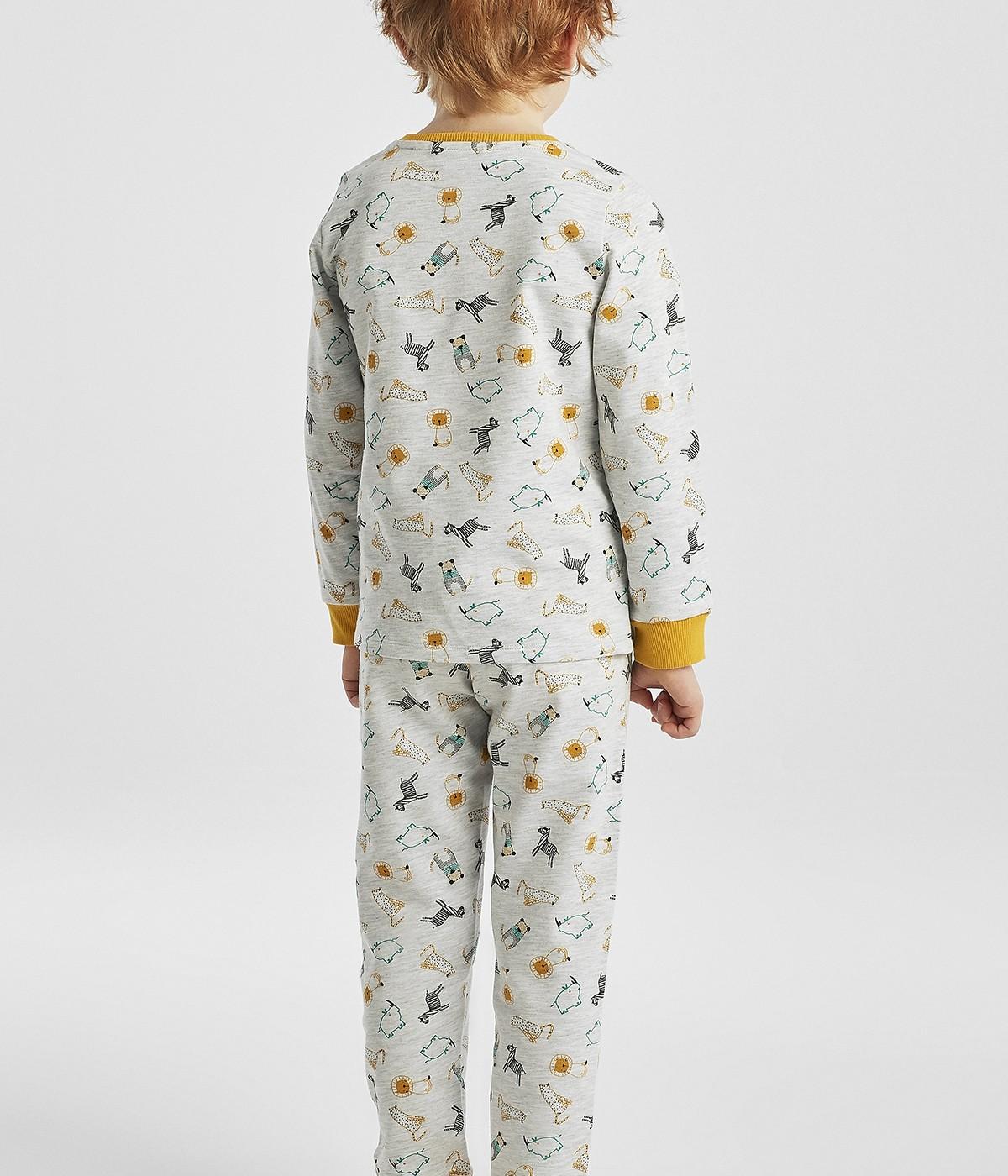 Set Pijama Baie?i Grey Tiger 2 Buc.