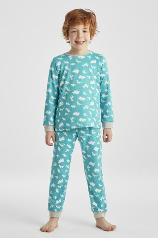 Set Pijama Baie?i Animals Thermal 2 Buc.