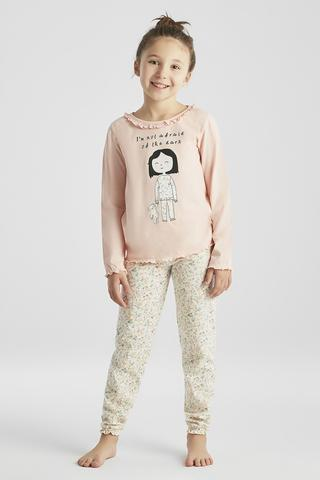 GIRLS FLORAL PJ SET