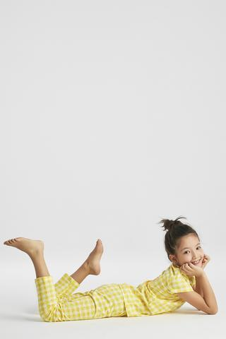 GIRLS LEMON PJ SET