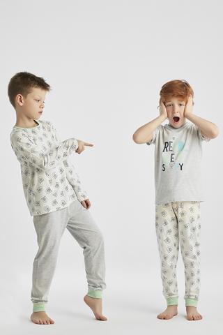 Set Pijama Baie?i Bear Story 4 Buc.