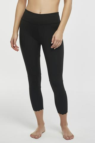 WAVY EDGE CROP LEGGING