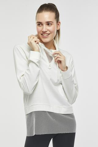 Mesh Detailed Sweatshirt