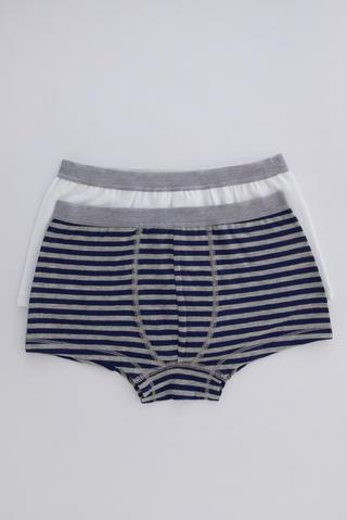 Boys Flat Stripe 2 In 1 Boxer