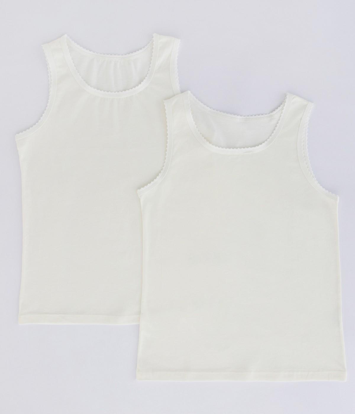 Girls Organic Cotton 2 In 1 Tank