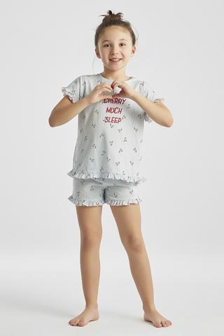 Girls Marine Cherry PJ Set 2in1