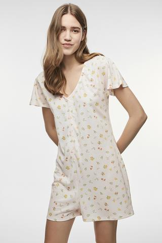 CUT OUT FLOWERS ONESIE