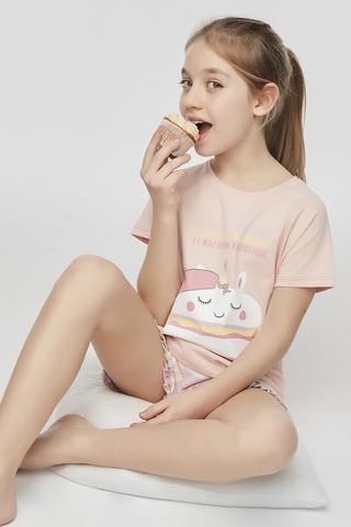 Set Pijama Teen Macaron 2 Buc.