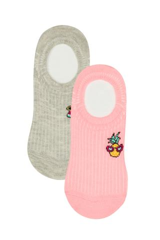 Girl Closed Fruit 2 in 1 No Show Socks