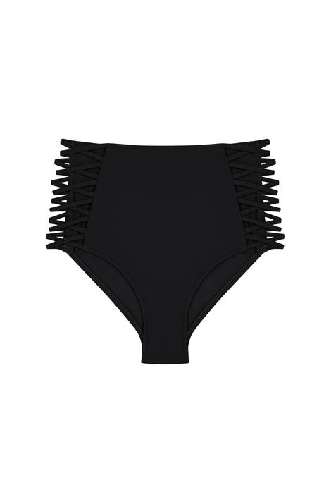 Basic Yüksek Bel Fashion Chilot Bikini