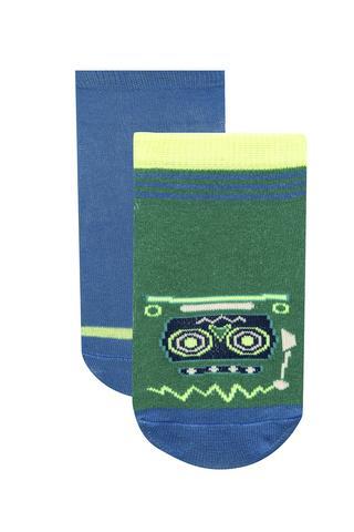 Boys Robot 2 in 1 Liner Socks